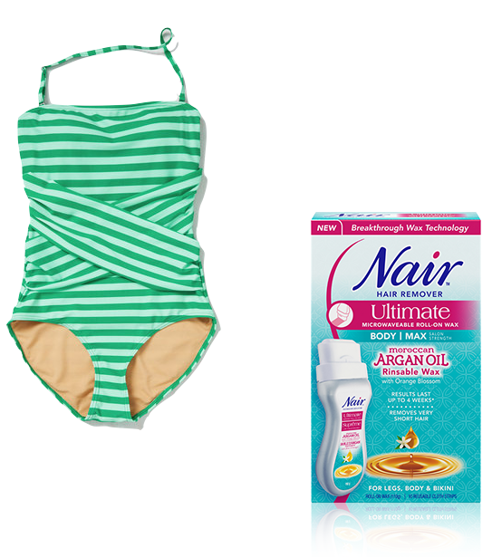 Spearmint Suit and Nair Moroccan Argan Oil