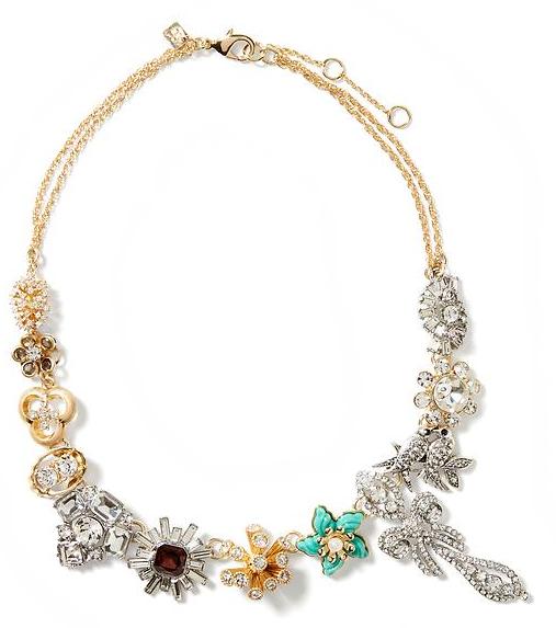 Faded Grandeur Brooch Necklace