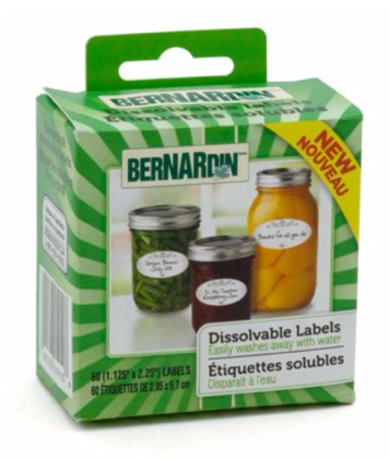 Bernardin Dissolvable Labels