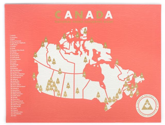 Canada National Parks Checklist Map