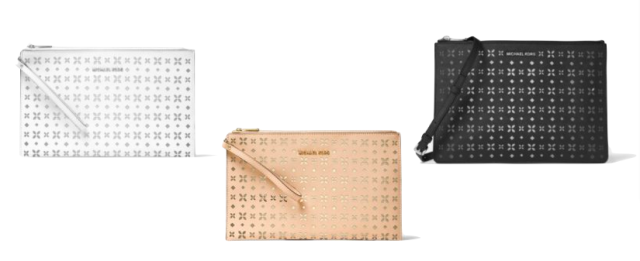 Perforated Clutch Michael Kors