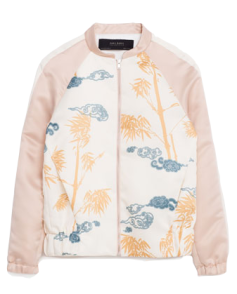 Printed Sateen Bomber Jacket - $69 @ Zara