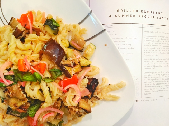 For Love and Lemons Grilled Eggplant and Summer Veggie Pasta