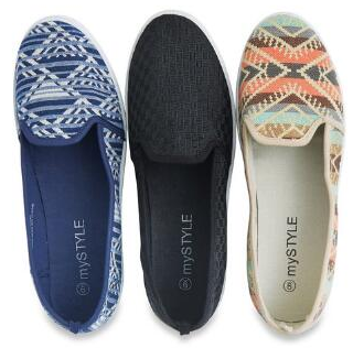 mySTYLE Women's Canvas Slip Ons