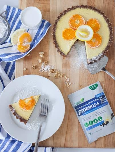 Genuine Health Fermented Greek Yogurt Citrus Tart
