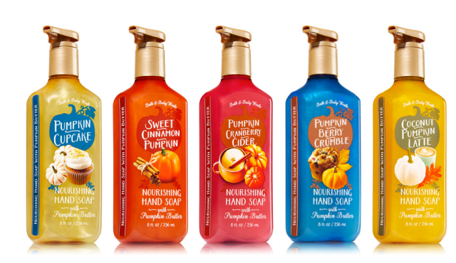 Bath and Body Works Pumpkin Scents