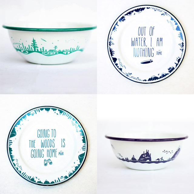 forest-and-waves-enamel-plates-and-bowls