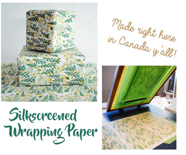 forest-and-waves-silkscreened-wrapping-paper