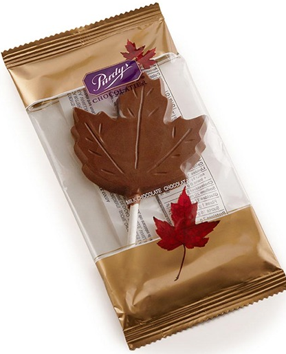 Purdy Milk Chocolate Maple Leaf Lollie