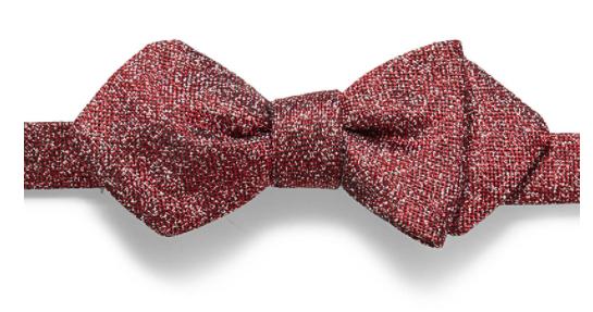 Simons Metallic Pixel Bow Tie