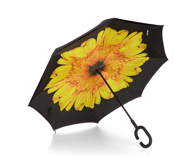 Simons Yellow Gerbera Reverse Umbrella