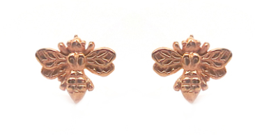 Rose Gold Bee Stud Earrings