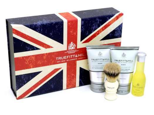 if dad belongs to a certain class of business traveler then hell certainly appreciate this suitcase friendly set of essentials from luxury english shaving
