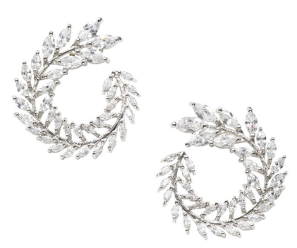 Cubic Zirconia Hoop Earrings Joe Fresh