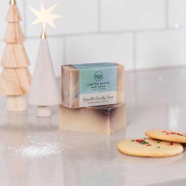 Vanilla Candy Cane Soap